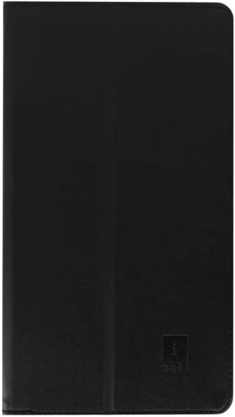 Colorcase Flip Cover for iBall Slide D7061 7 inch Black