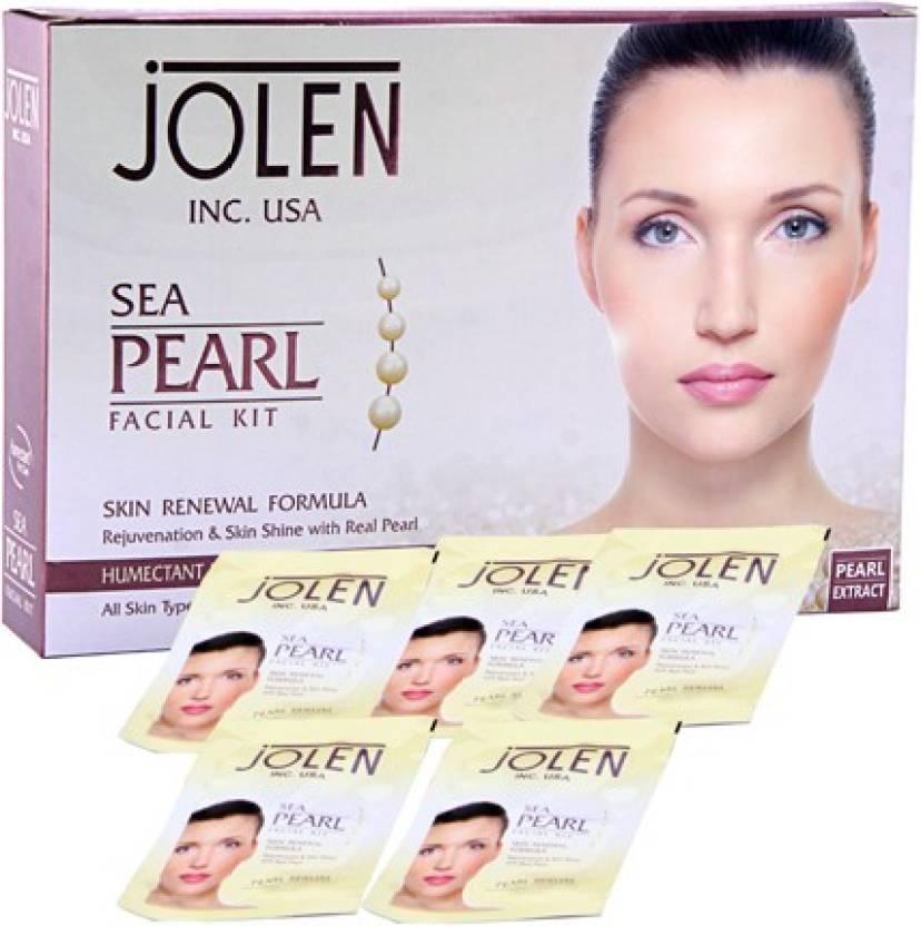 Jolen Sea Pearl Facial Kit 50g 10 Price In India Buy Jolen Sea