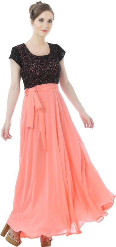 4bec9f932f6 Just Wow Flared Gown Price in India - Buy Just Wow Flared Gown ...