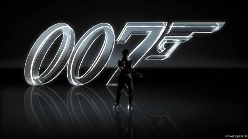 JAMES BOND LOGO 007 ON FINE ART PAPER HD QUALITY WALLPAPER POSTER Fine Art  Print (19 inch X 13 inch 000ec016db5a1