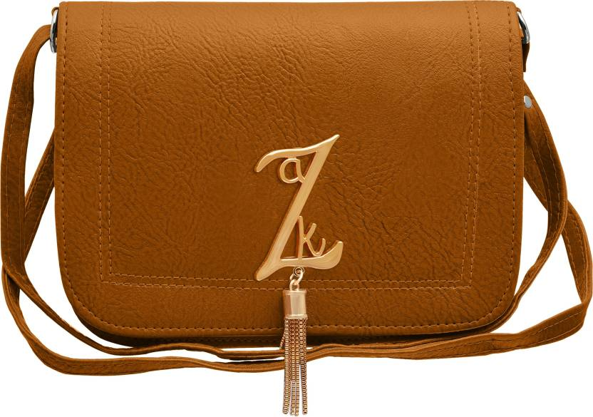 Tap Fashion Women Casual Brown PU Sling Bag Light Yellow - Price in India  1ddeb4a2f0375