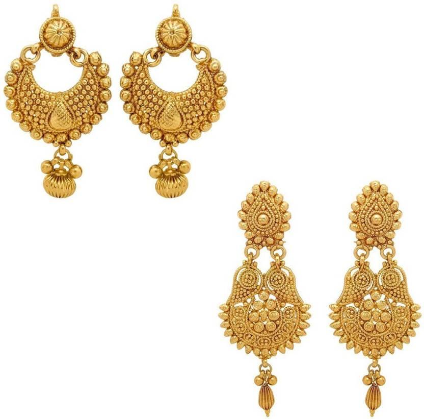 Flipkart.com - Buy Zeneme Designer dangle combo earring set for ...