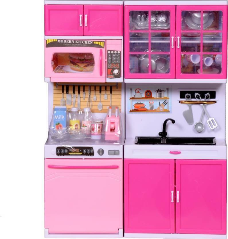 Emob Attractive Modern Kitchen Playset With Light And Real Sound Effect 5615
