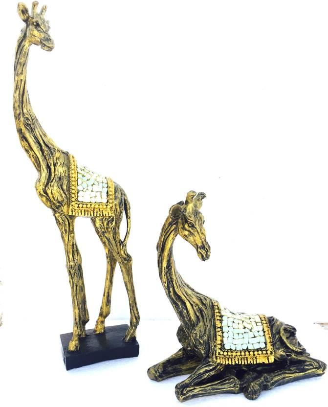Global Voice brass type ziraf (set of 2) Decorative