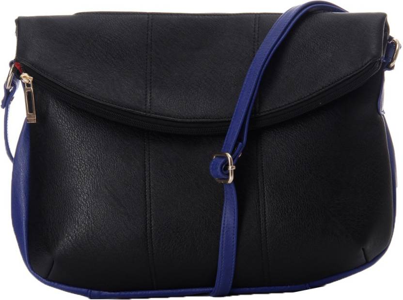 GLAM DIVA Women Casual Black PU Shoulder Bag Black - Price in India