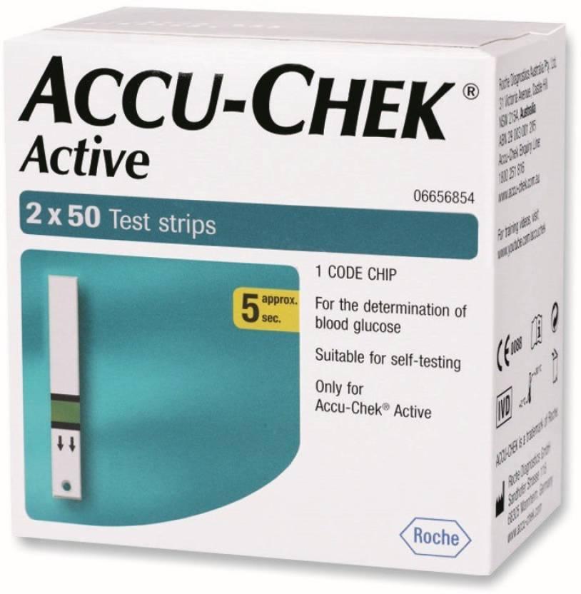 Accu-Check 100 Glucometer Strips