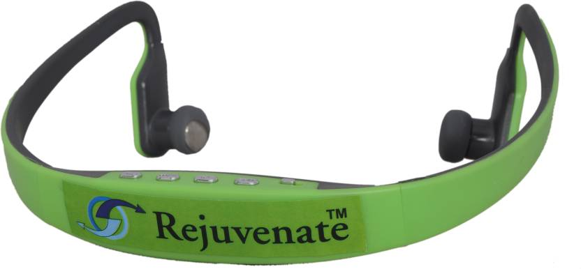 rejuvenate MRS BS15 WITH MIC Bluetooth Headset Green, In the Ear