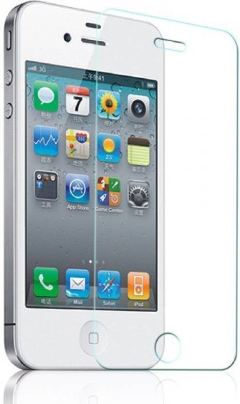 Indian Bazzar Tempered Glass Guard for Apple Iphone 4