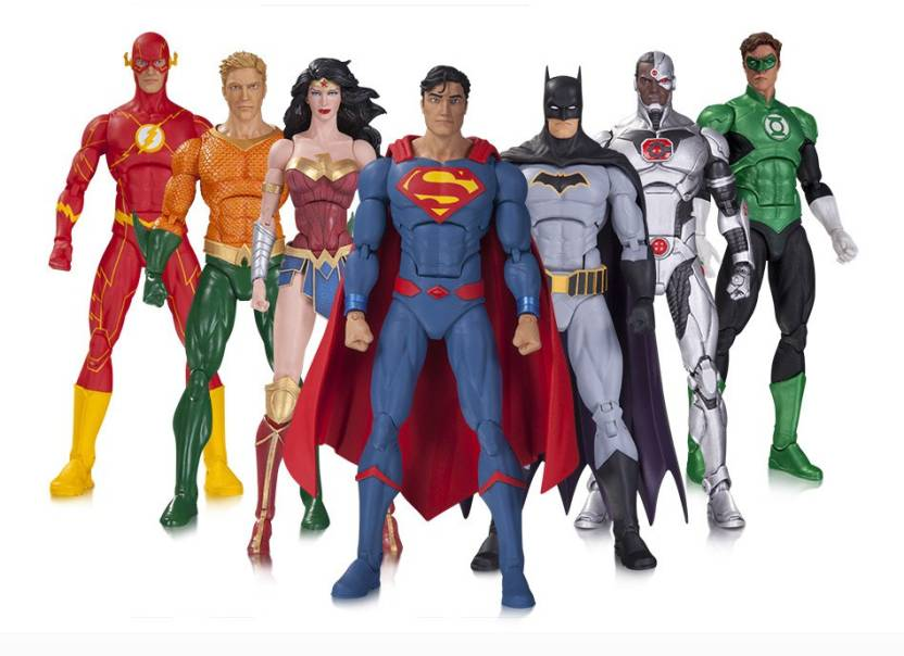 03700bf8adcb04 DC Collectibles DC Rebirth Justice League 7 Pack Action Figure (Multicolor)