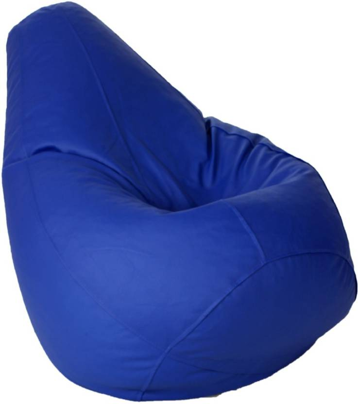 Kainaat Fashion Large Tear Drop Bean Bag Cover  Without Beans  Blue