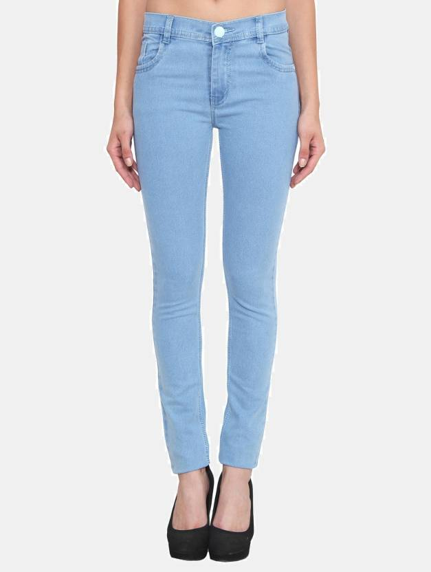 Crease u0026 Clips Slim Womenu0026#39;s Light Blue Jeans - Buy Crease u0026 Clips Slim Womenu0026#39;s Light Blue Jeans ...