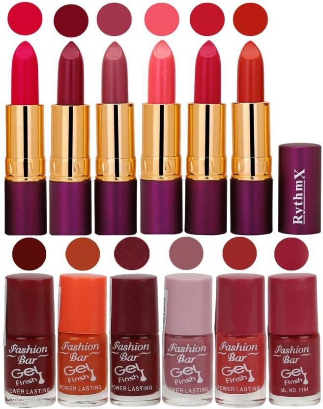 Rythmx Lipstick And Nail Polish Combo Pack Of 12