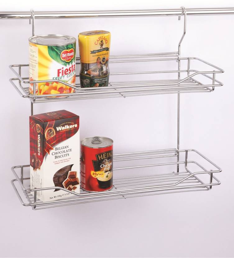 WIRE ART Hanging Rack Stainless Steel Kitchen Rack (White)