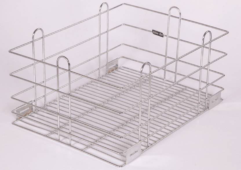 WIRE ART Grain Trolley Stainless Steel Kitchen Rack Price in India ...