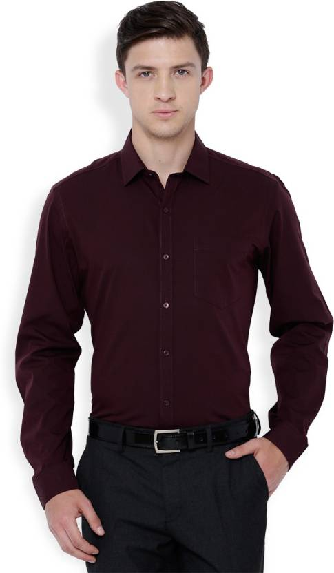 a947f77a1917 Black Coffee Men s Solid Formal Maroon Shirt - Buy Black Coffee Men s Solid  Formal Maroon Shirt Online at Best Prices in India