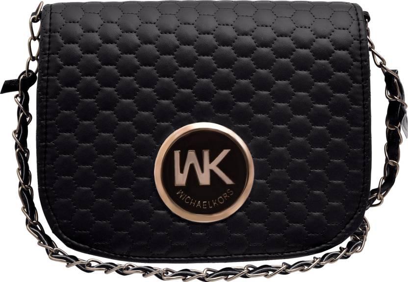 tap fashion Women Evening Party Black PU Sling Bag Black - Price in India  de135003c42c6