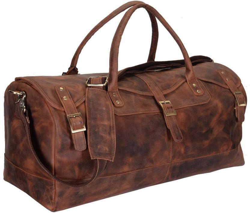 Hidestitch WILD HUNT Travel Duffel Bag Brown-05 - Price in India ... 36168b6710b0f