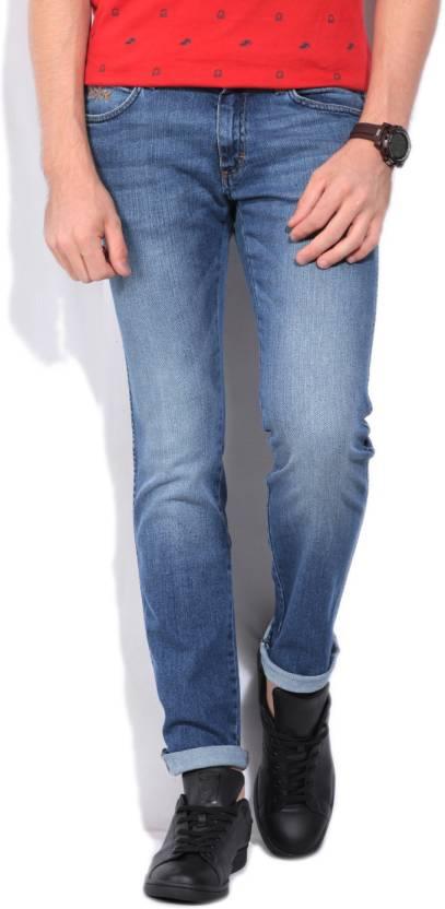 229250c2 Wrangler Kevin Slim Men's Blue Jeans - Buy JSW-DARKSTONE Wrangler ...