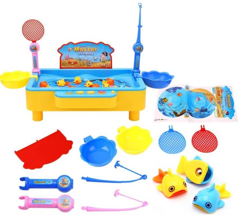 Toys Bhoomi 2 in 1 Colorful Magnetic Fishing Game Toy with the Music ...