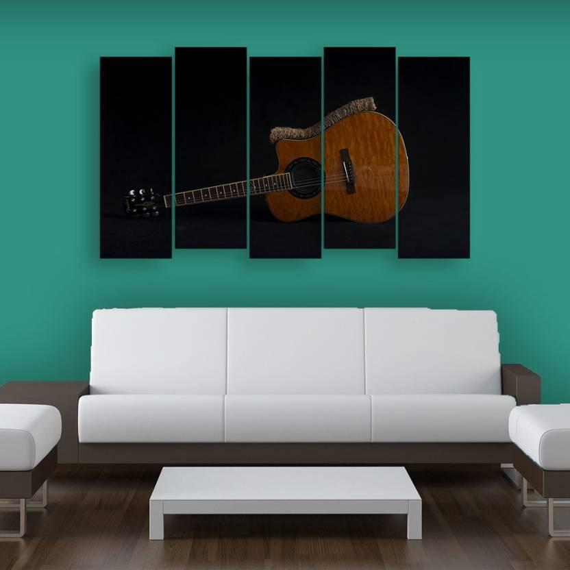 Inephos Multiple Frames Beautiful Guitar Wall Painting Digital