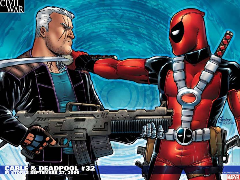 Comics Cable Deadpool Deadpool Cable Hd Wallpaper Background Fine