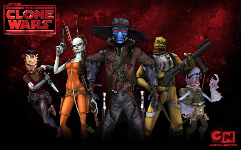 wall poster tvshow star wars the clone wars cad bane bounty hunters