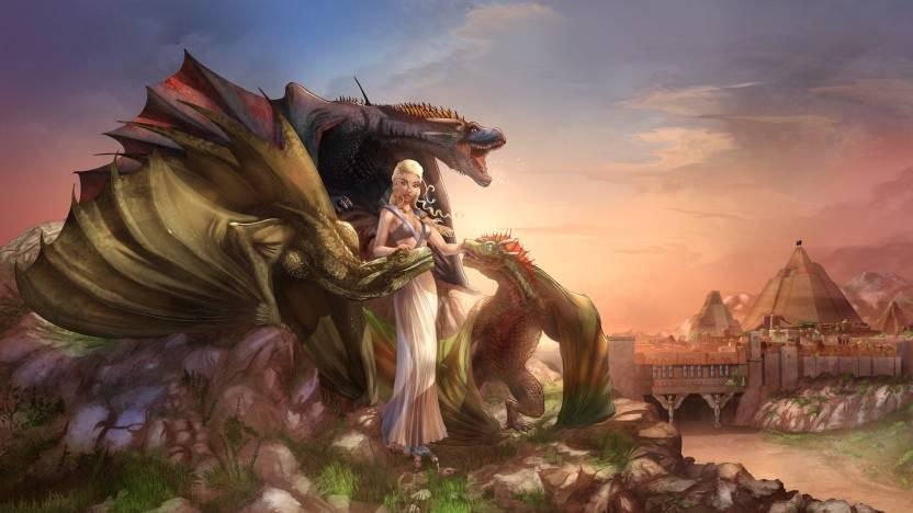 TV Show Game Of Thrones Fan Art Dragon Woman Daenerys