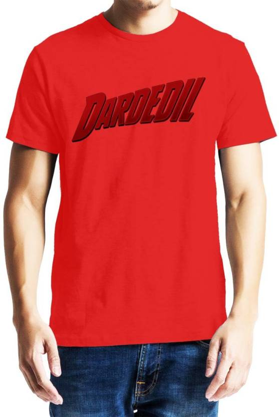 Baklol Graphic Print Men's Round Neck Red T-Shirt