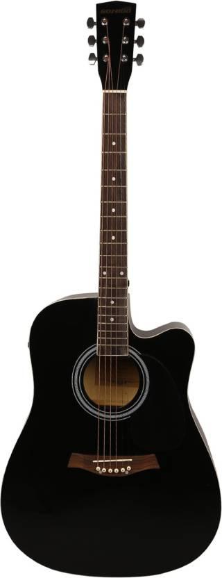 Sonido SON-SMEC105-BLK Linden Wood Acoustic Guitar