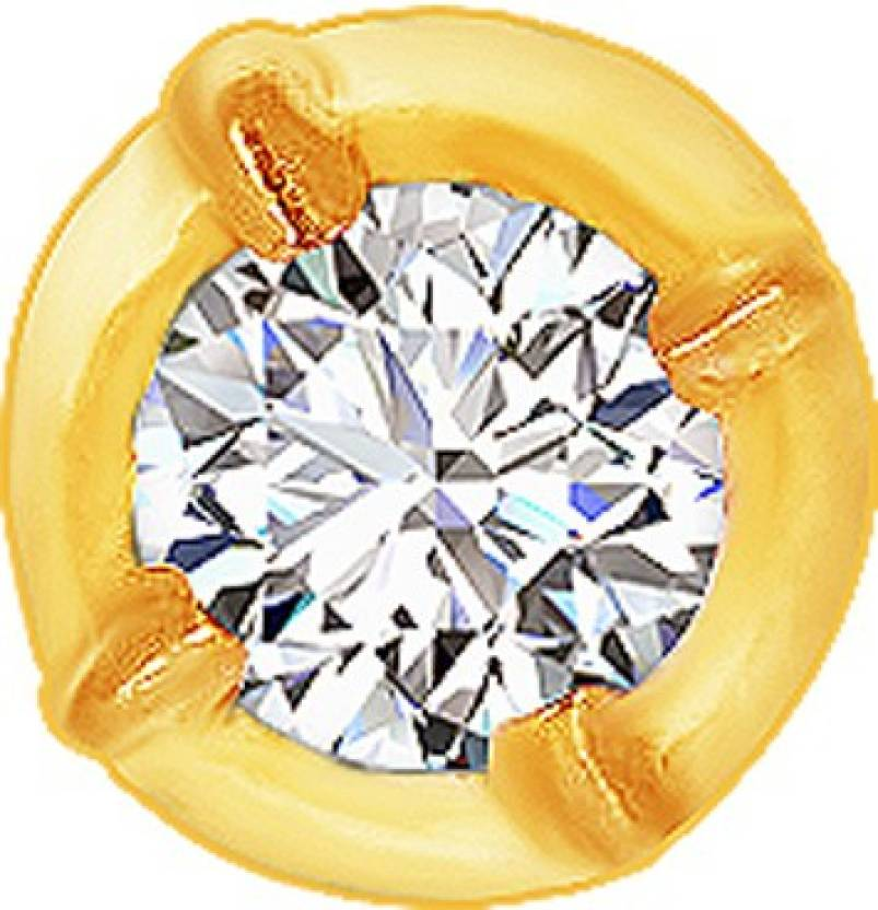 Kalyan Jewellers Single Stone Close Nosepin 22kt Diamond Yellow ...