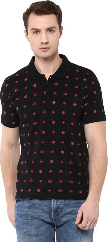 96a0132de Deadpool By Free Authority Printed Men's Polo Neck Black T-Shirt ...