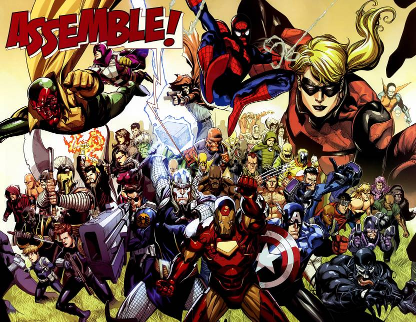 Comics Avengers Assemble Iron Man Thor Spider Man Captain America