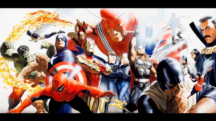 Comics Marvel Hulk The Thing Spider Man Captain America Iron