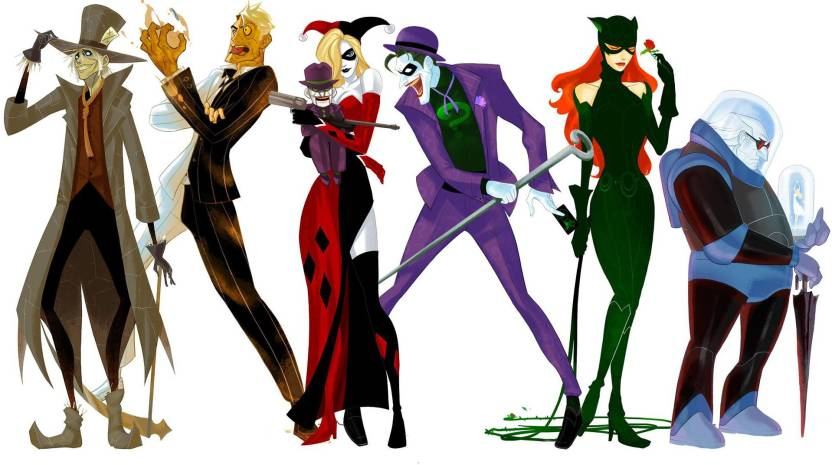 Batman Harley Quinn Riddler Scarecrow Two Face Catwoman Mr Freeze