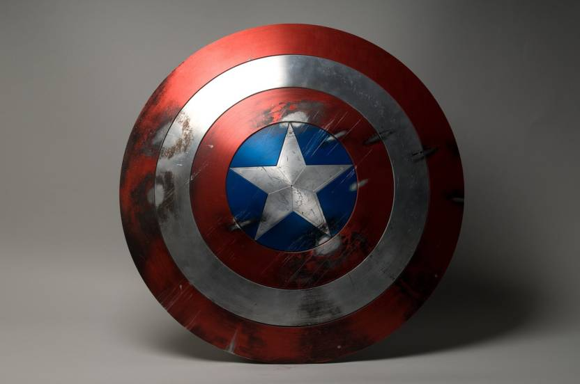 Comics Captain America Shield Hd Wallpaper Background Fine Art Print