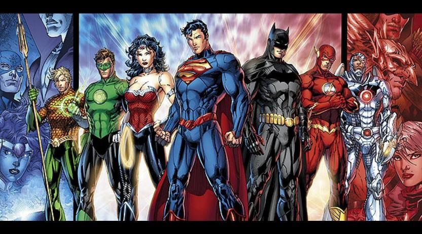 Superman Wonder Woman Green Lantern Flash Giant Poster Art Print