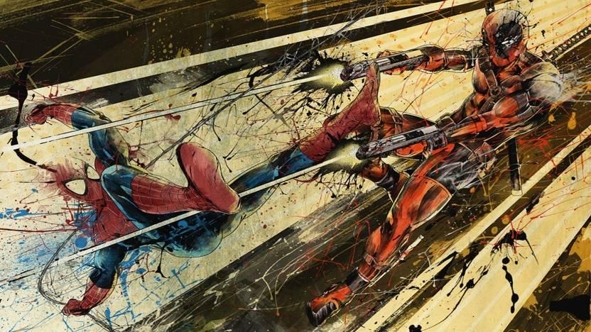 Comics Spiderman Vs Deadpool Spider Man HD Wallpaper Background Paper Print