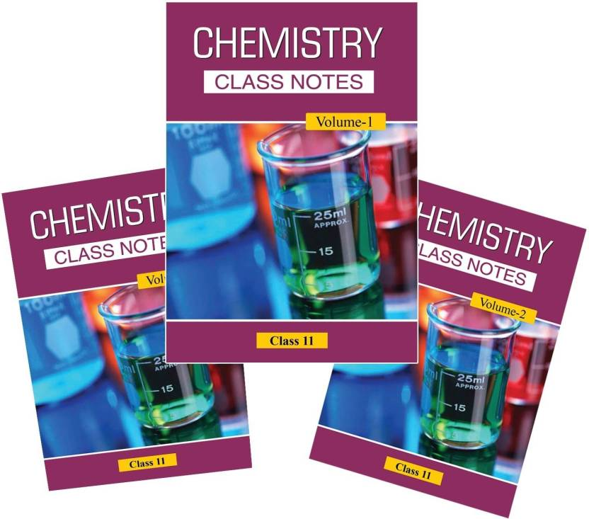 Class Notes For 11th Chemistry (Set Of 3 Volumes) By Career Point Kota