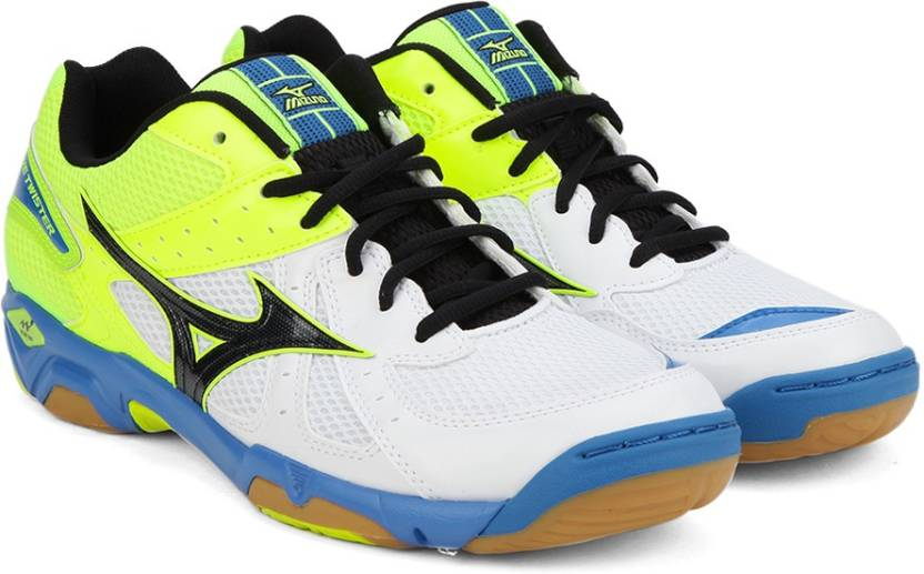new arrival 4ebeb f9203 Mizuno WAVE TWISTER 4 Indoor Shoes For Men (White)
