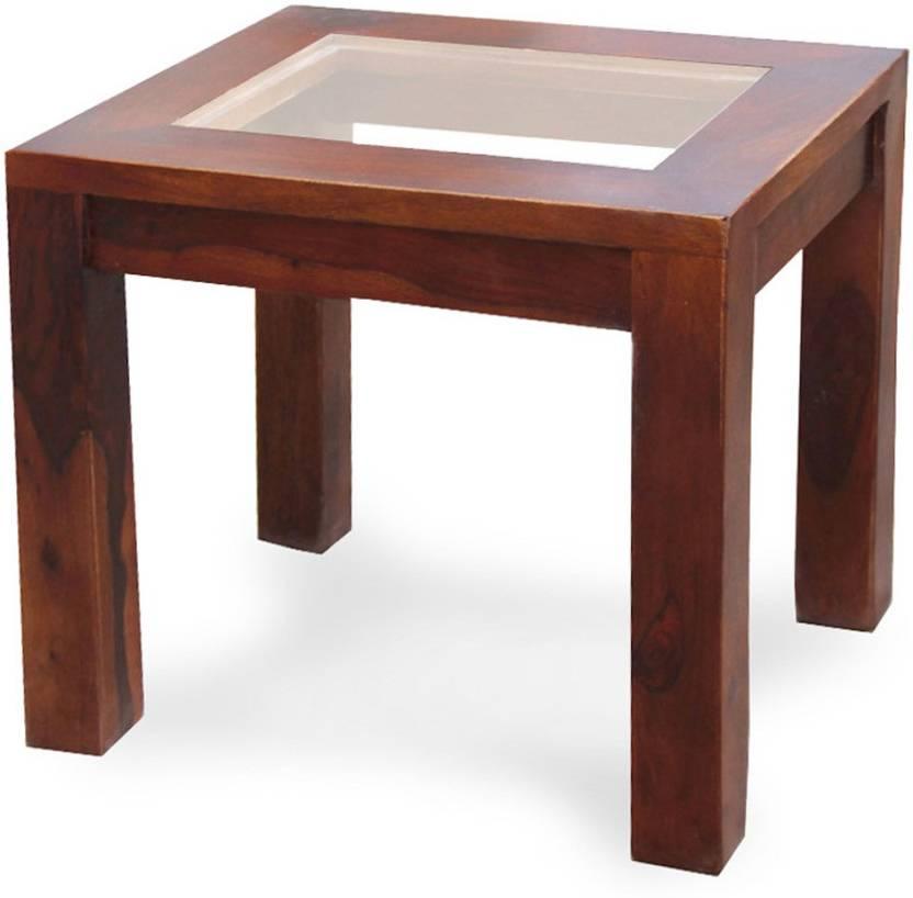 The Attic Sheesham Wood Solid Wood Coffee Table Finish Color   Dark Honey