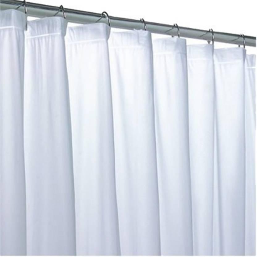 Kuber Industries 210 Cm 7 Ft Pvc Shower Curtain Single Curtain