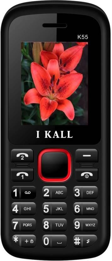 Flat Rs.155 Off On I Kall Mobiles By Flipkart | I Kall K55  (Red) @ Rs.444