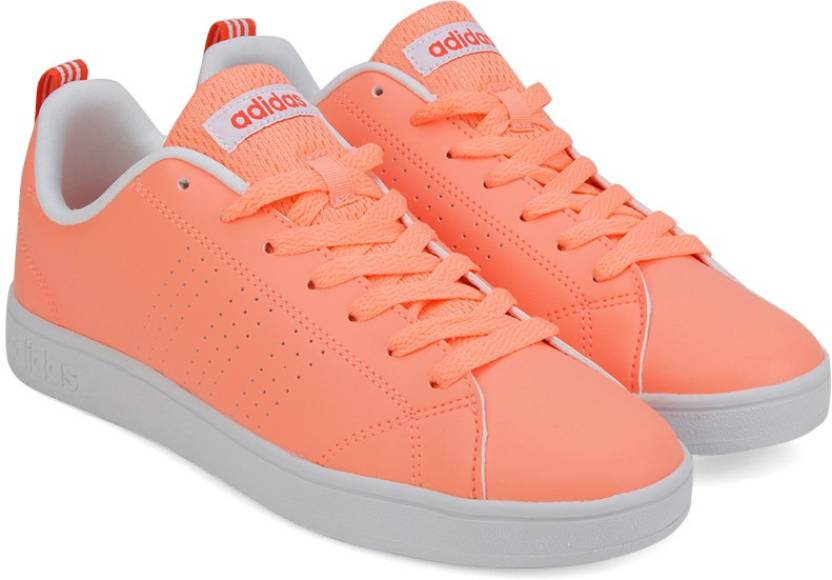 on sale a9a26 4c538 ADIDAS NEO VS ADVANTAGE CLEAN W Sneakers For Women (Orange, Grey)