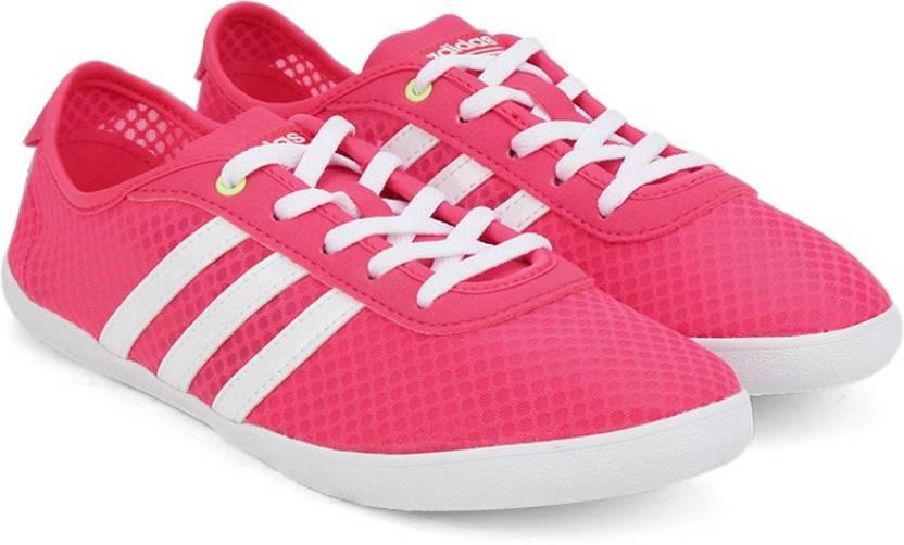online store a4380 5ec9f ADIDAS NEO CF QT VULC SEA W Sneakers For Women (Pink)