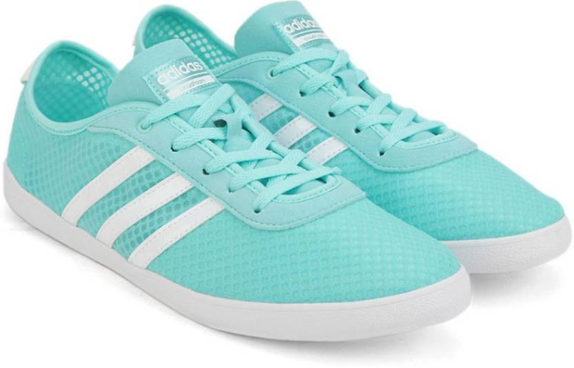 reputable site 1f253 4b518 ADIDAS NEO CF QT VULC SEA W Sneakers For Women (Blue)
