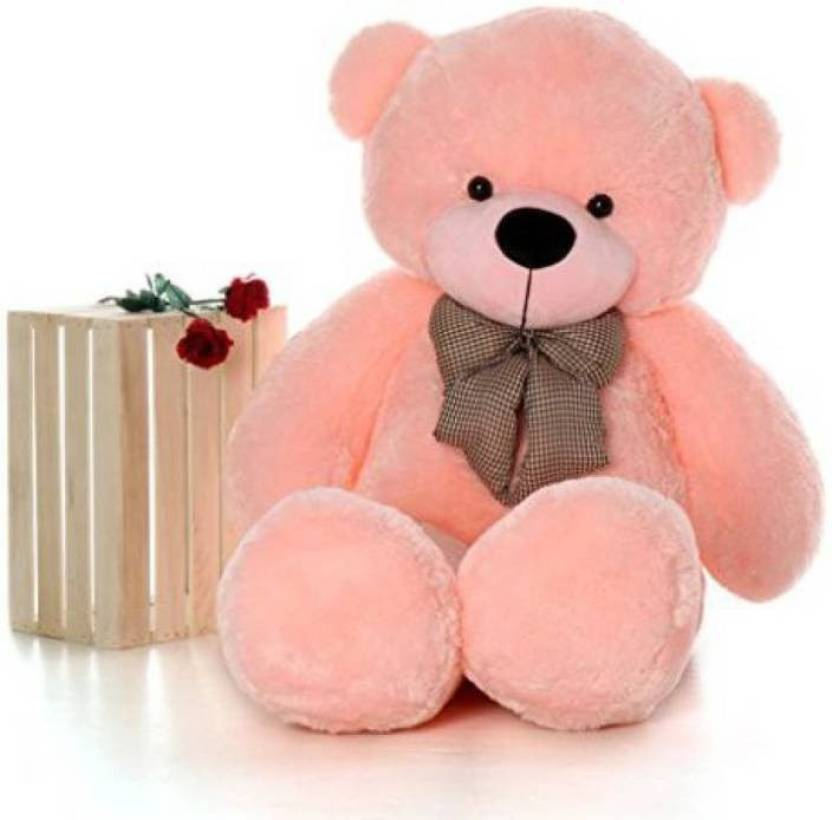Avs 4 feet teddy bear for gift pink color 122 cm 4 feet avs 4 feet teddy bear for gift pink color 122 cm negle Images