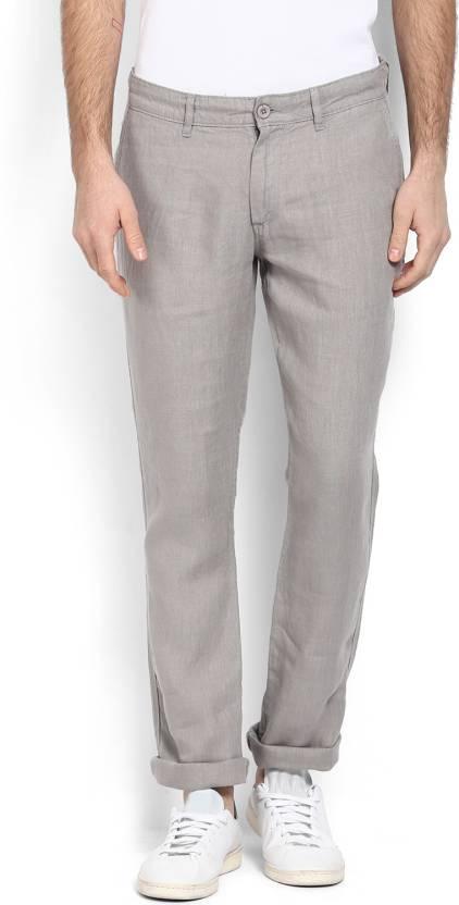 8996c7045e8 Celio Regular Fit Men s Linen Grey Trousers - Buy Celio Regular Fit Men s  Linen Grey Trousers Online at Best Prices in India