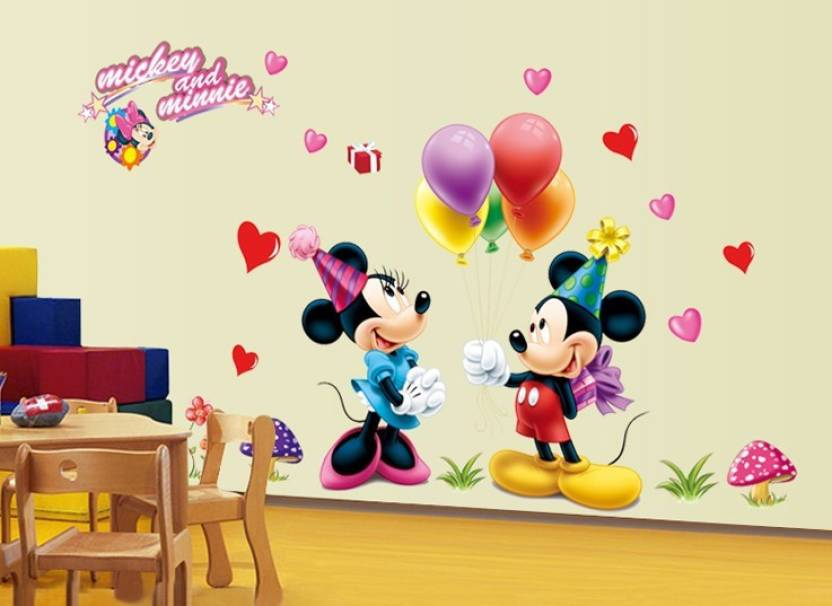 the splash famous cartoons wall stickers (multicolor, wall covering