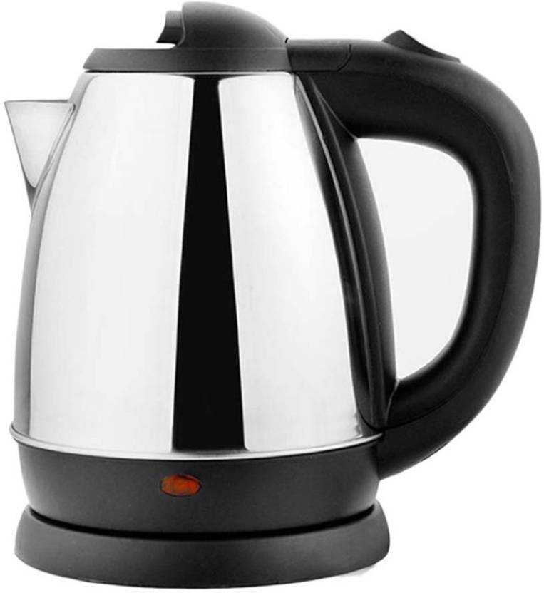 Upto 82% Off On Electric Kettle By Flipkart | VK SKY POLO - 1 Electric Kettle  (1.8 L, Silver, Black) @ Rs.465