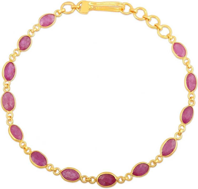 Malabar Gold And Diamonds Precia Yellow 22kt Ruby Bracelet